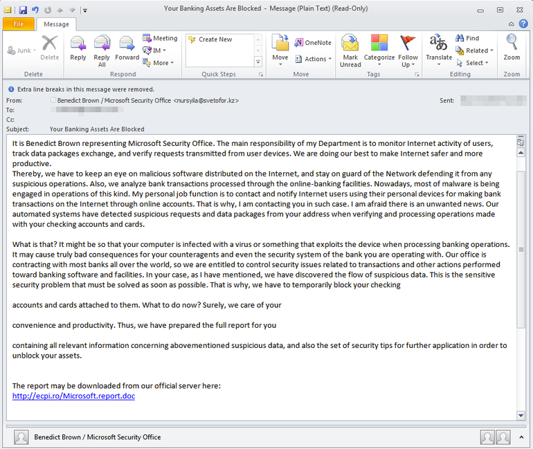 Watch Out for This Malicious Fake Security Email